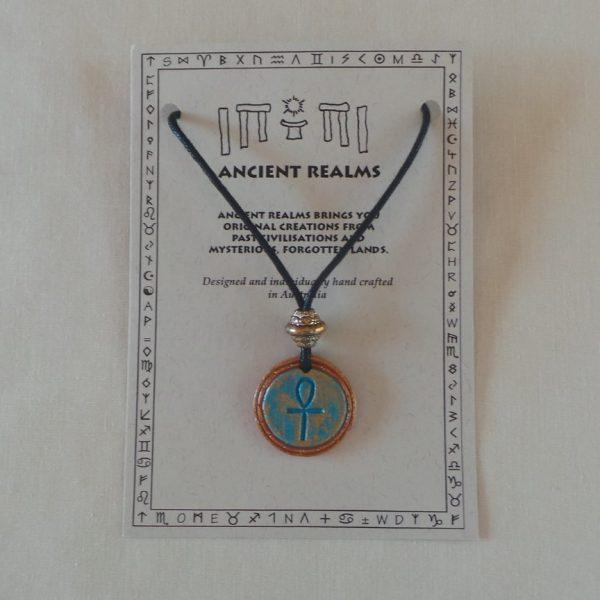 Egyptian Ankh - Aqua
