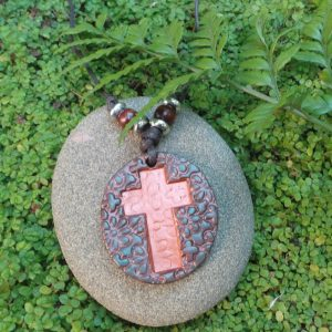 Christian Cross Flower Copper/Bronze