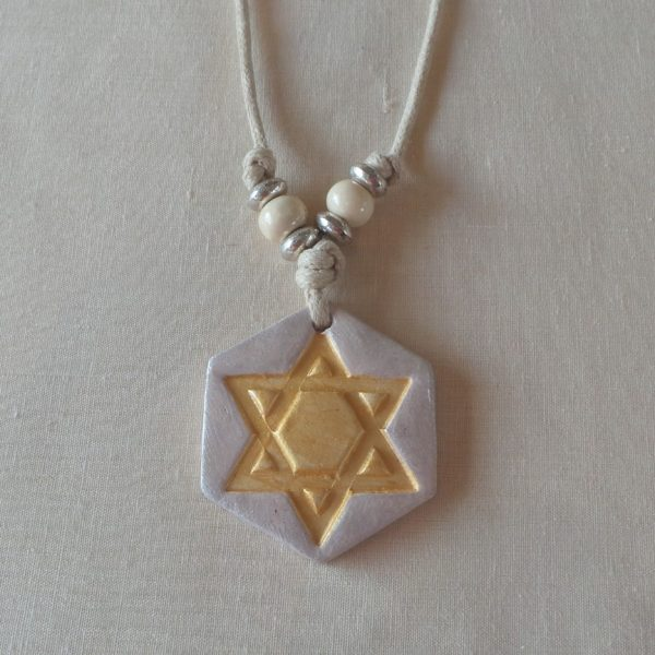 Star of David - Gold/Pearl