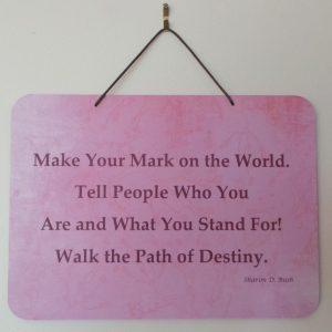 Affirmation: Make - Pink