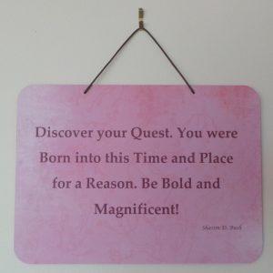 Affirmation: Discover - Pink