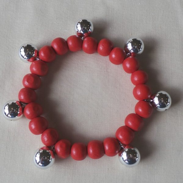 Bell Braclet - Protection and Joy through Sound - Red