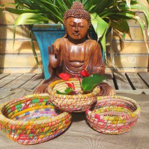 Sari Offering Bowls (set of 3) Recycled Fair Trade No.2