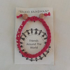 Friendship Bracelet Red/Pink - Fair Trade