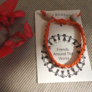 Friendship Bracelet Orange - Fair Trade