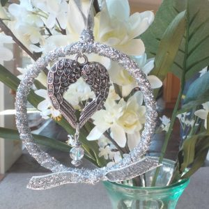 Wedding Charm Wreath/Angel/Heart - Eternity/Protection/Love