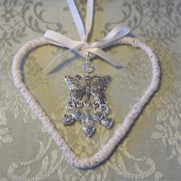 Wedding Charm Heart/Butterfly - Love/Transformation