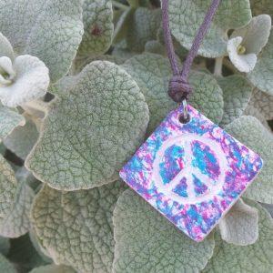 Peace Sign - Pink/Aqua