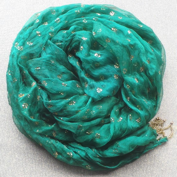 Veil Scarf - Green & Gold