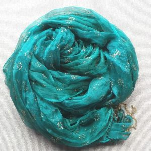 Veil Scarf- Forest & Gold