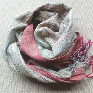 Scarf Cotton - Rust & Khaki