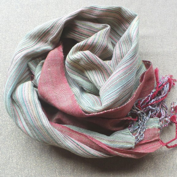 Scarf Cotton - Rust & Khaki