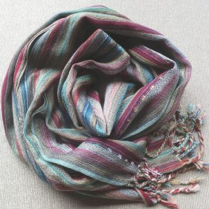 Scarf Cotton - Rust, Ochre & Blue