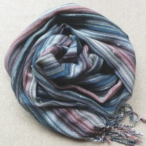 Scarf Cotton - Black, Navy & Fawn
