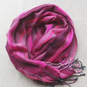 Scarf Cotton - Maroon & Pink