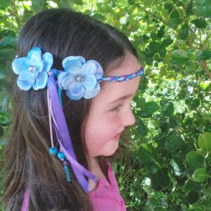 Headband Flower - Child Size, Blue/Violet