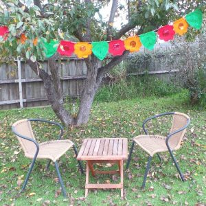 Flower Bunting - Orange, Green & Red