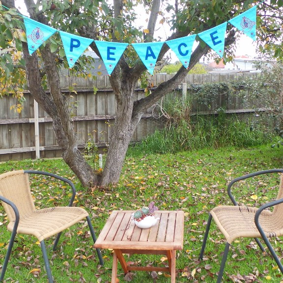 Peace Bunting - Blue