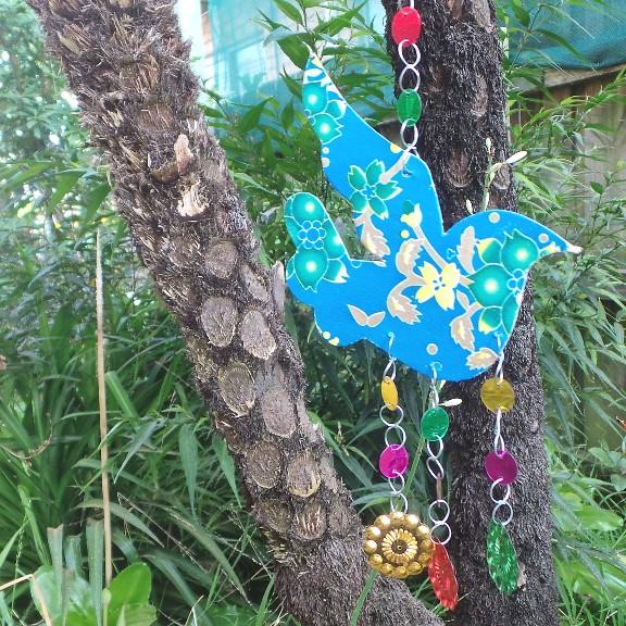 Hanging Christmas Dove Decoration