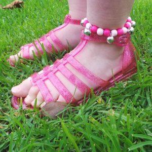Bell Anklet Child - Pink & Pale Pink