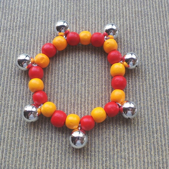 Bell Anklet Child - Red & Orange