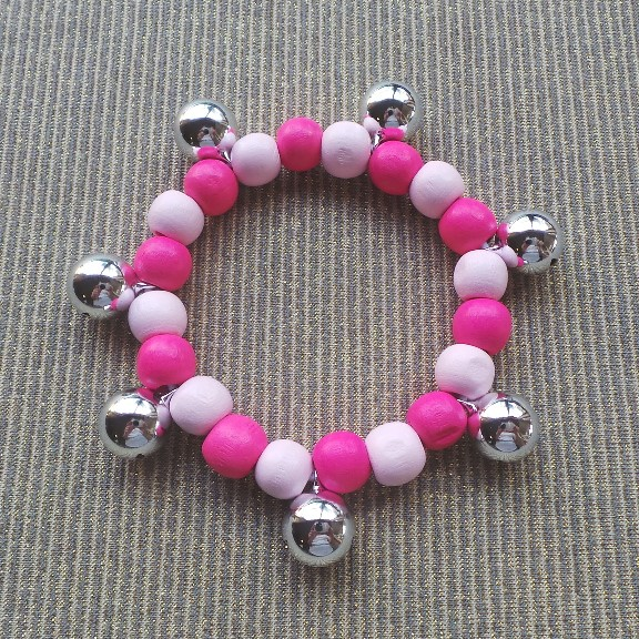 Bell Anklet Child - Pink & Pale Pink