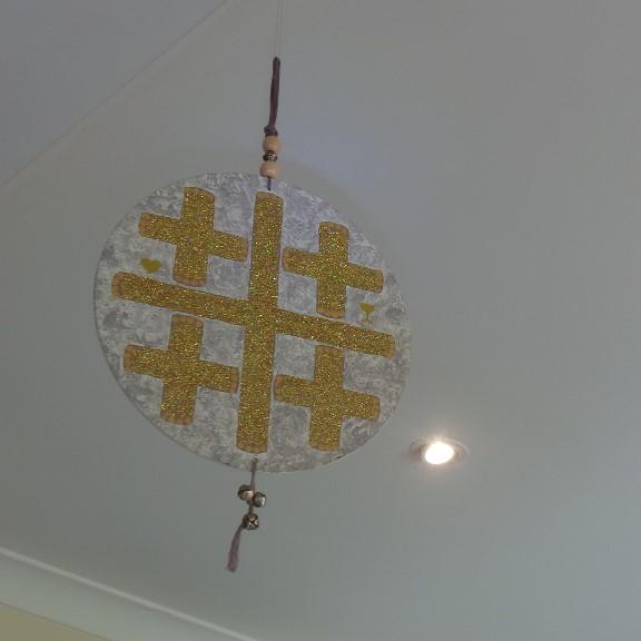 House Symbol/Talisman - Jerusalem/Crusaders Cross: Gold & Off White