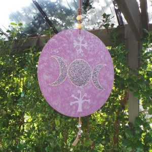 House Symbol/Talisman - Triple Goddess: Mauve & Silver