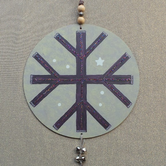 House Symbol/Talisman - Protection to the Quarters: Eggplant & Taupe