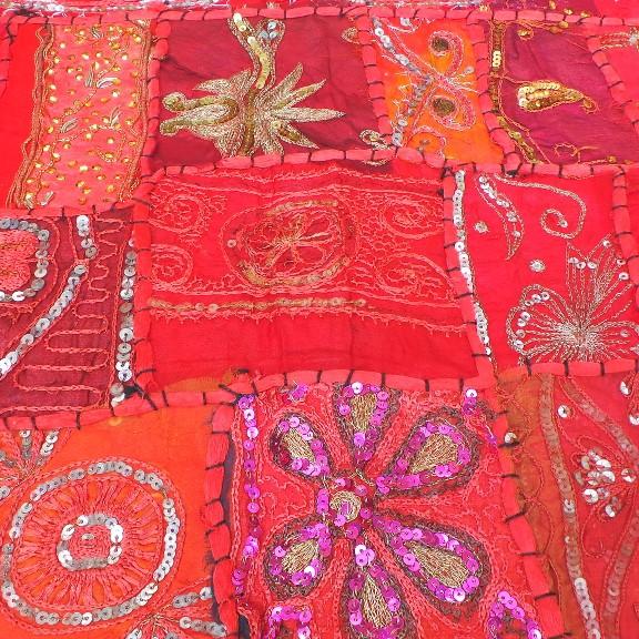 Recycled Sari Altar Cloth - Red