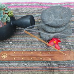 Incense Holder - Pentagram, wood
