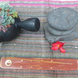 Incense Holder - Yin Yang, wood
