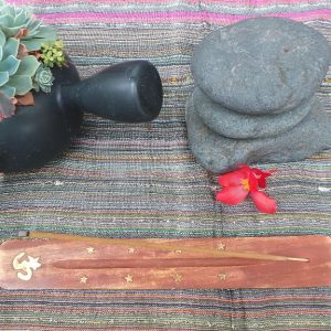Incense Holder - OM, wood
