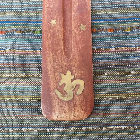Incense Holder - OM, wood
