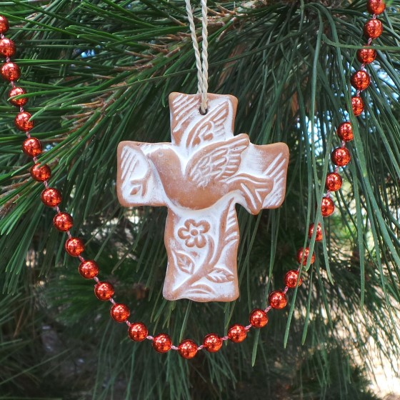 Christmas & Easter Decoration - Cross & Dove