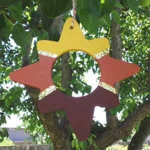 Australian Christmas Decoration: Star - Desert Sands