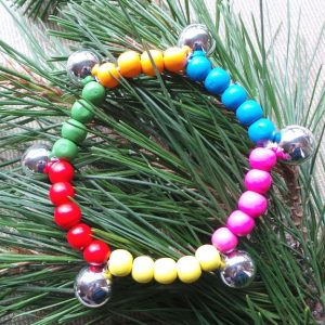 Bell Anklet - Protection and Joy through Sound - Multi Coloured