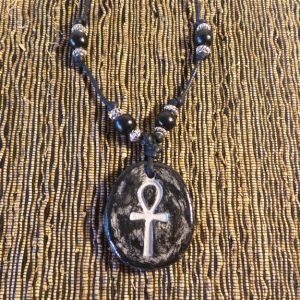 Egyptian Ankh - Black & Silver