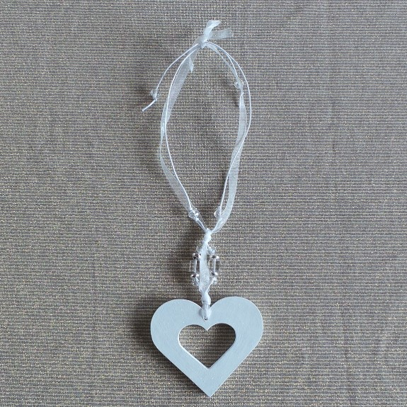 Wedding Charm - Heart (Small) White