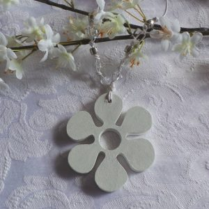 Wedding Charm - Flower, White