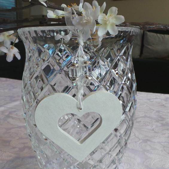 Wedding Charm - Heart (Small) White