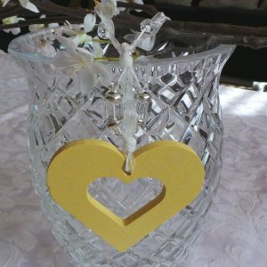 Wedding Charm - Heart (Small)  Lemon