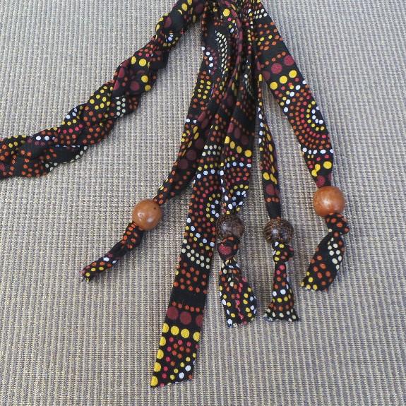 Australia, Indigenous Headband - Ochre & Black