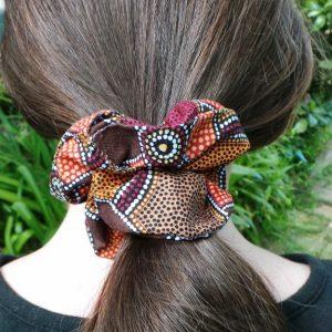 Australia: Indigenous Scrunchie - Rust & Ochre