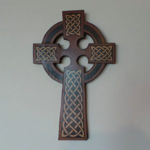 Celtic Cross - Wall Hanging: Rust/Brown/Black