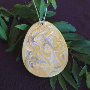 Easter Egg Hanging Decoration - Lemon