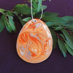 Easter Egg Hanging Decoration - Orange