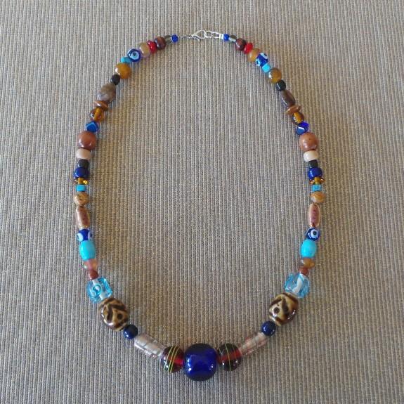 Trade Beads No.7, Blue & Amber