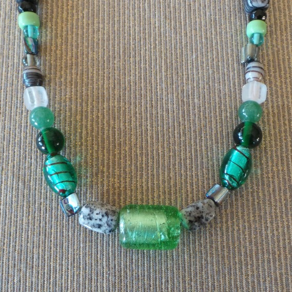 Trade Beads No.9, Mint & Grey