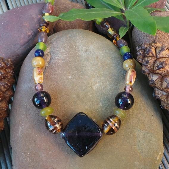 Trade Beads No. 4, Purple & Brown